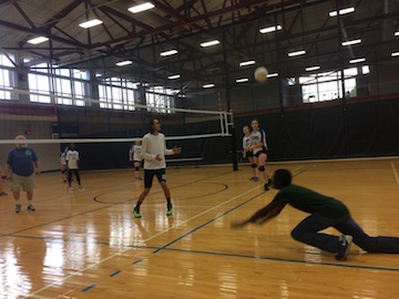 Students Throw Down with Faculty in Volleyball Game