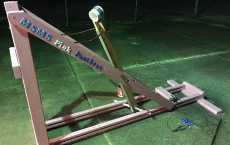 MSMS Catapult Team Flies into Competition Action