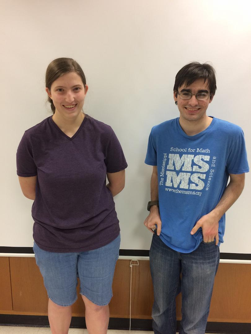 Leah Pettit and William Johnson competed in the American Invitational Mathematics Examination.