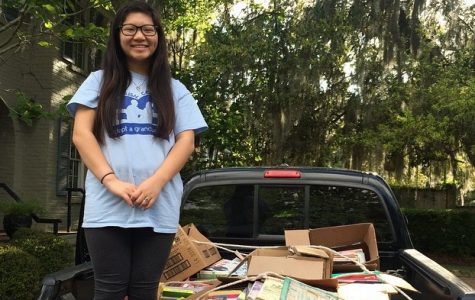 Student Collects Books for Little Bookworms