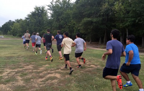 MSMS boys interested in joining the soccer team ran during an unofficial tryout/practice session