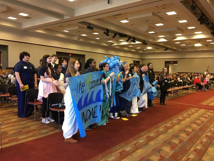 Chanting their cheer, the MSMS students represented their spirit in both their school and the Latin language.