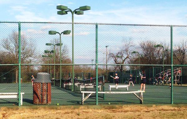 MSMS tennis players are getting ready for the games ahead.