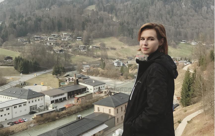 MSMS+Senior+Emily+Hook+poses+at+the+Salzburg+Salt+Mines+on+the+border+of+Austria+and+Germany.