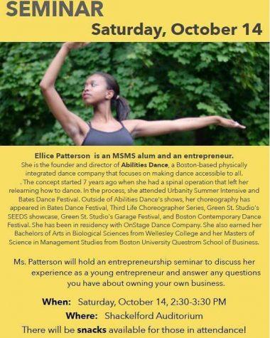 Entrepreneurship Seminar with Ellie Patterson Deemed Success