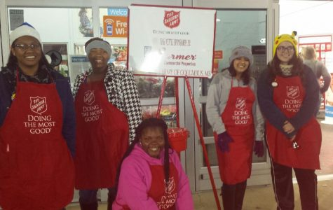 Students Ring Bells for Salvation Army