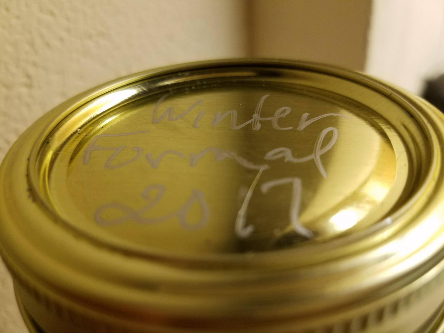 Students took snow globes back to the dorms as winter formal souvenirs.