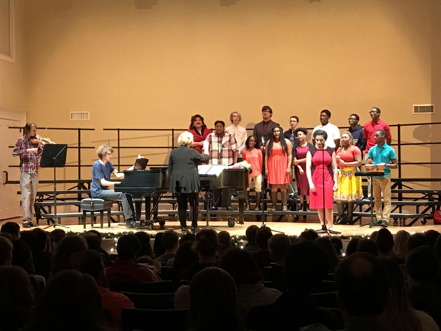 Mrs. Henry's Spanish classes give an invigorating performance on the night of the holiday language concert, leaving audience members on the edge of their seats.