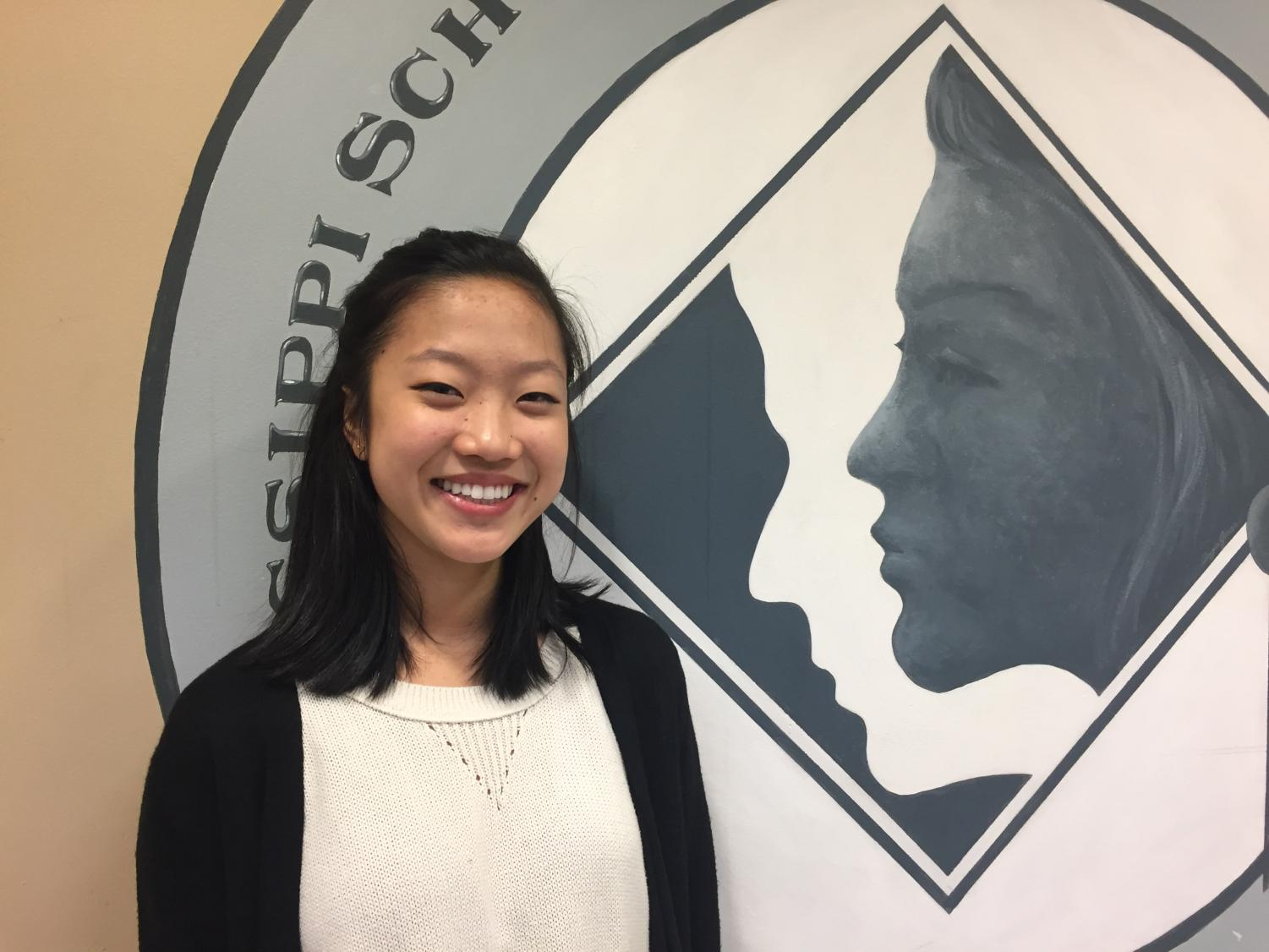 Lori Feng placed fourth in the regional Poetry Out Loud Competition.