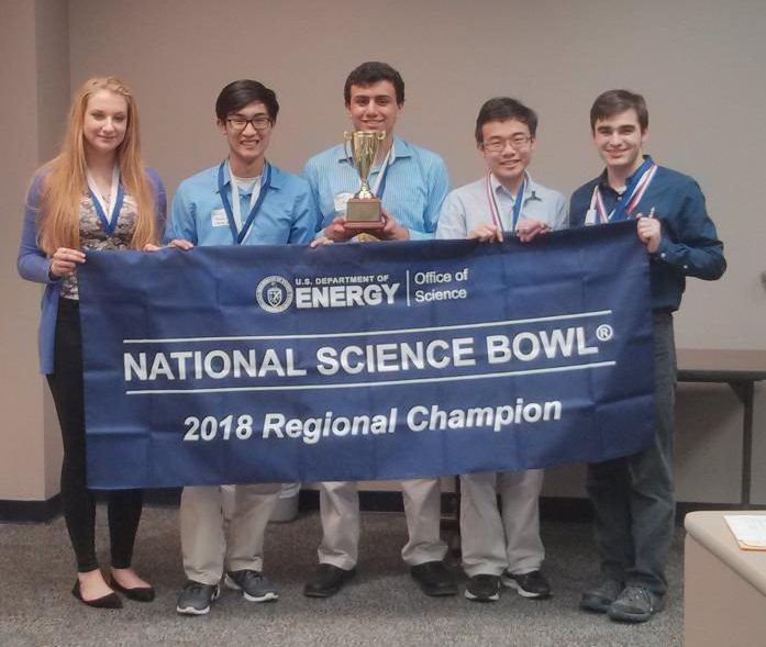 Pictured above the MSMS Science Bowl Team A. From left to right: Maria Kaltchenko, Gary Nguyen, Yousef Abu-Salah, Hamilton Wan and William Johnson.