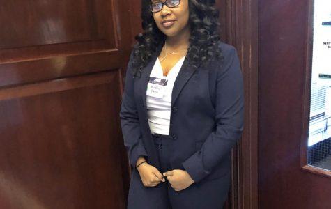 Student Spotlight Beams on Aurelia Caine