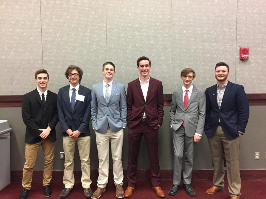 Pictured above are some of the students that competed in the MMSC competition. From left to right: Drew Lindsay, Liam McDougal, Cody Welborn, David Thaggard, Keegan Lindsey and Tate Howard.