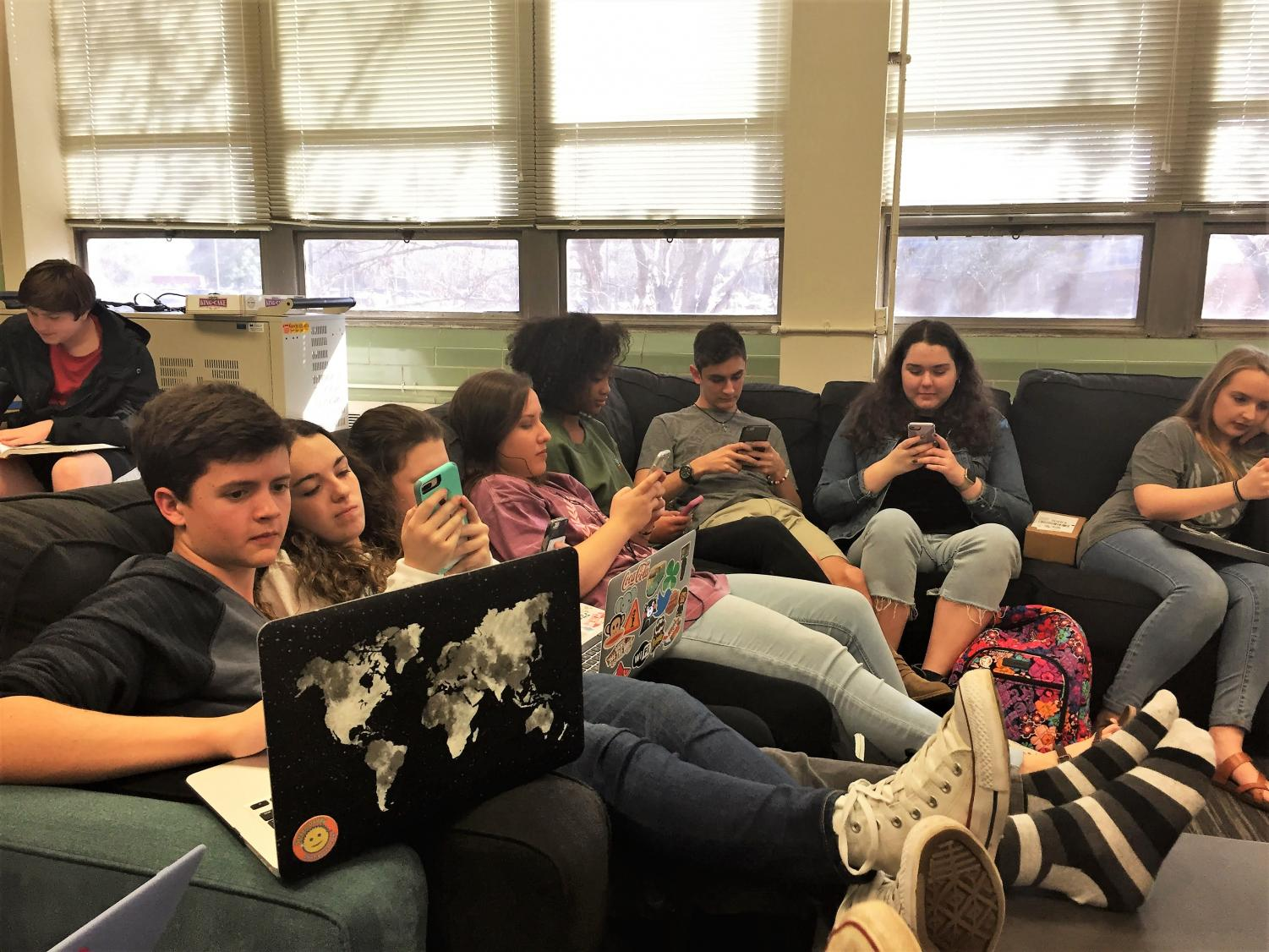 Students nowadays rely on their laptops and smartphones for communication even more than human interaction. Do they realize that they are being sucked into the world of internet?