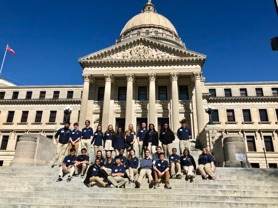 MSMS+students+stand+on+the+capitol+steps+before+departing+Jackson.