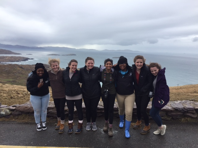 Pictured above are seniors (from left to right) Vivia Davis, Rachel Brady, Maggie Rennie, at the Ring of Kerry in Ireland.