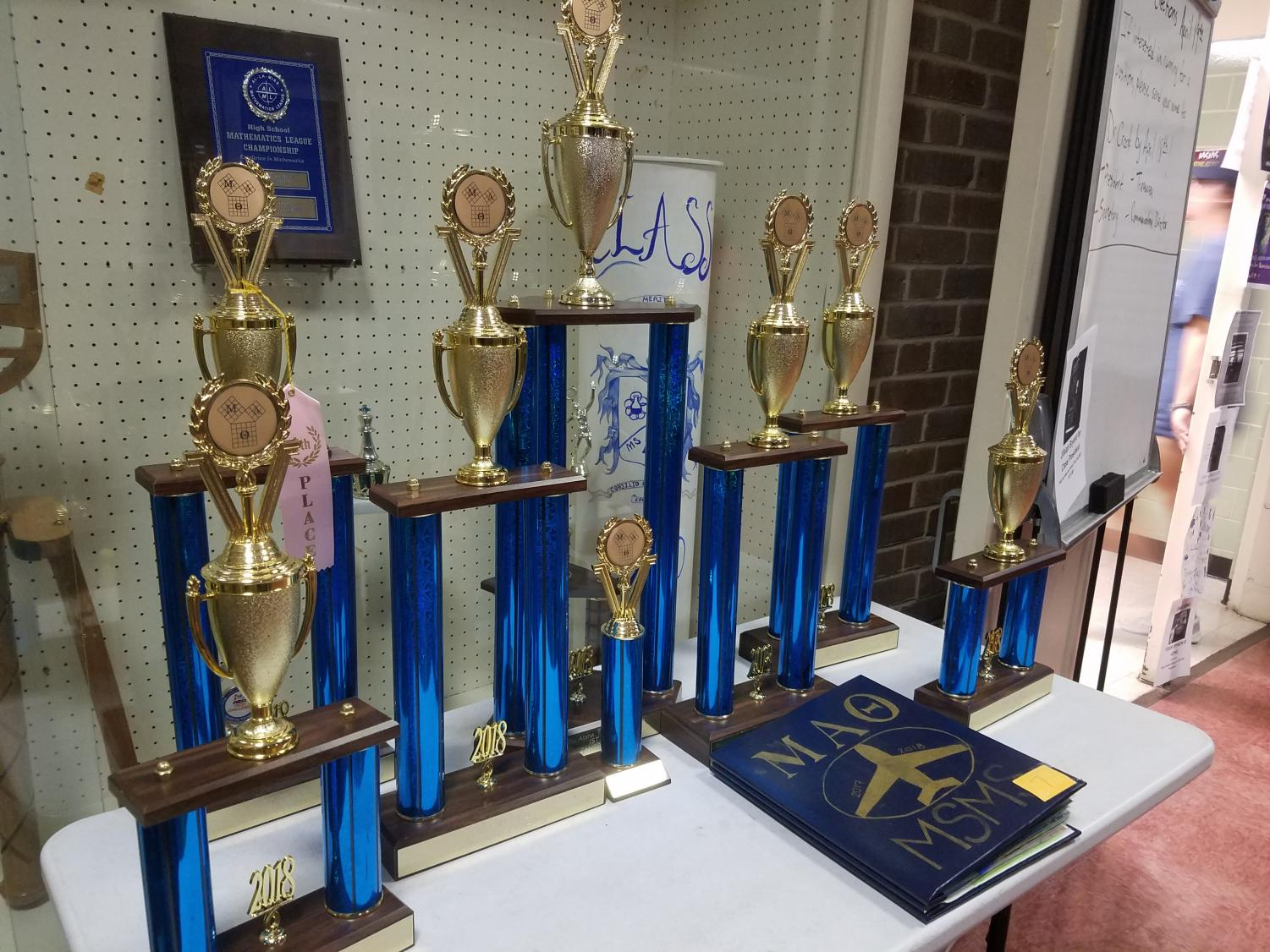 The Mu Alpha Theta team won numerous trophies at the state convention to bring back home.