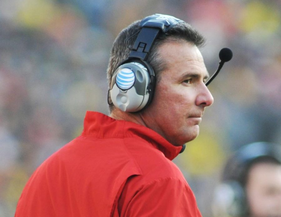 Urban+Meyer+on+the+sidelines+during+2013+match-up+with+University+of+Michigan.+Ohio+State+won+42-41+in+a+wire-to-wire+thriller.+
