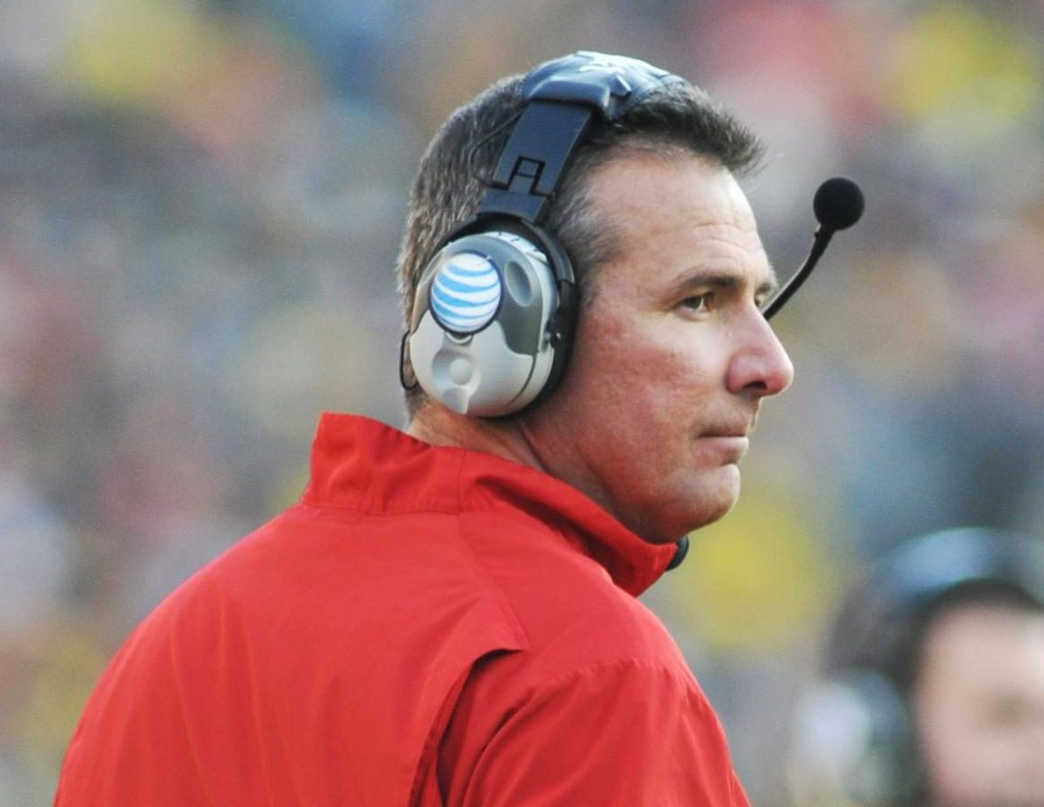 Urban Meyer on the sidelines during 2013 match-up with University of Michigan. Ohio State won 42-41 in a wire-to-wire thriller.