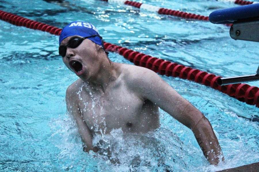 Blue Waves Dive into the First Swim Meet