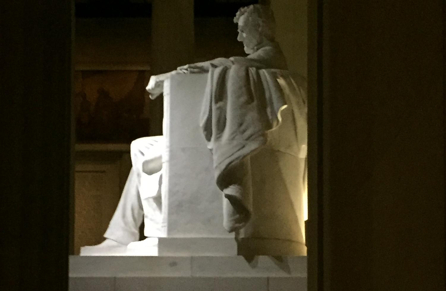 The Lincoln Memorial is supposed to stand as a monument to America's triumph over racism - but has America really moved on?