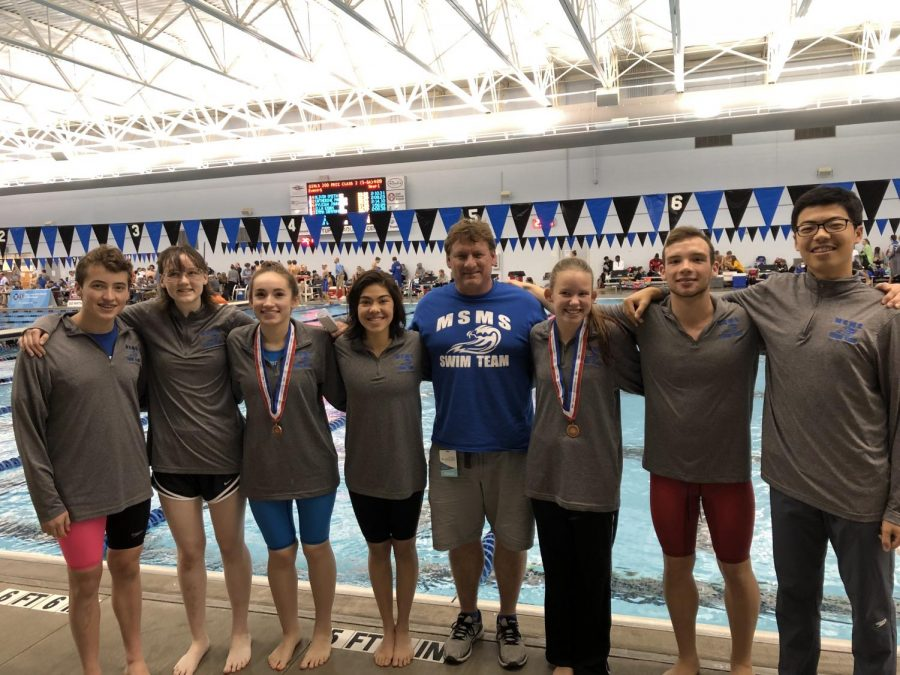 The entire MSMS Swim Team competed at State Championships