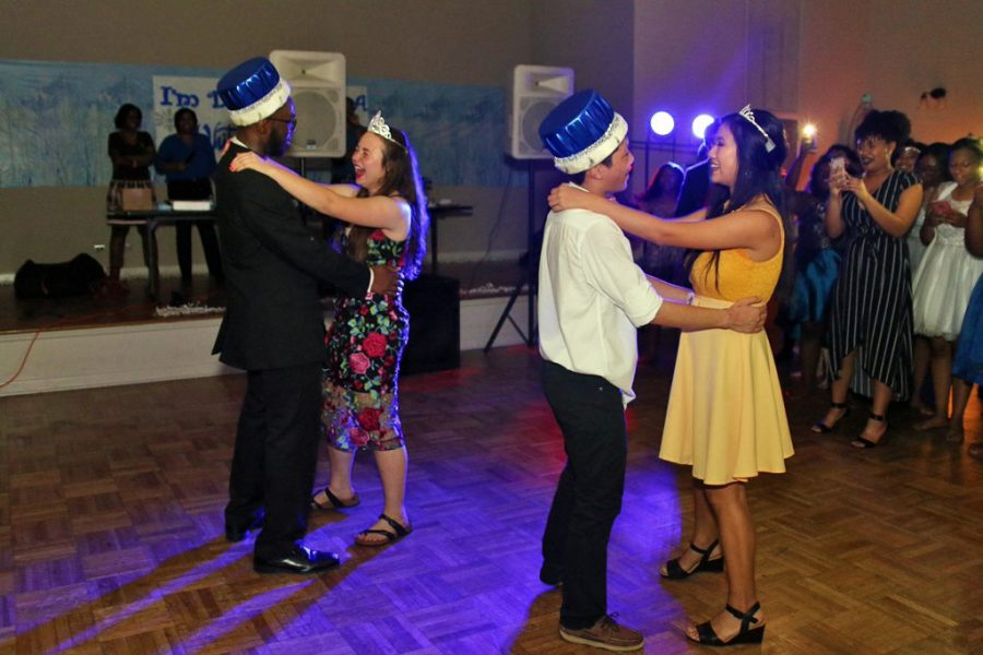 Juniors Reggie Zheng and Gina Nguyen received Winter Formal Prince and Princess, while seniors Madison Wypyski and Morgan Emokpae received Winter Formal King and Queen.