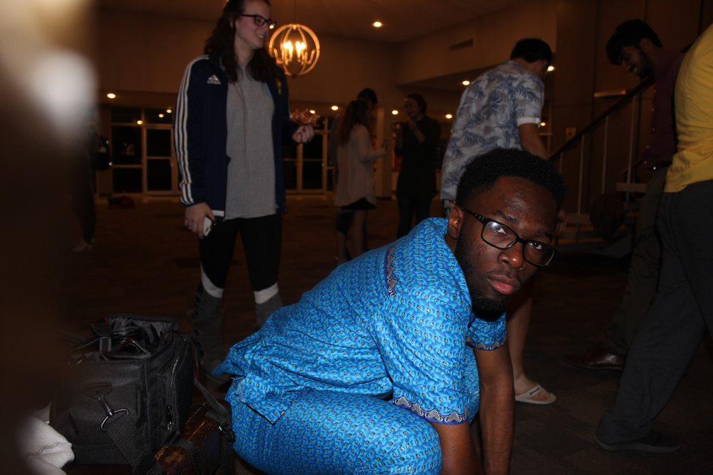 Morgan Emokpae strikes a pose!