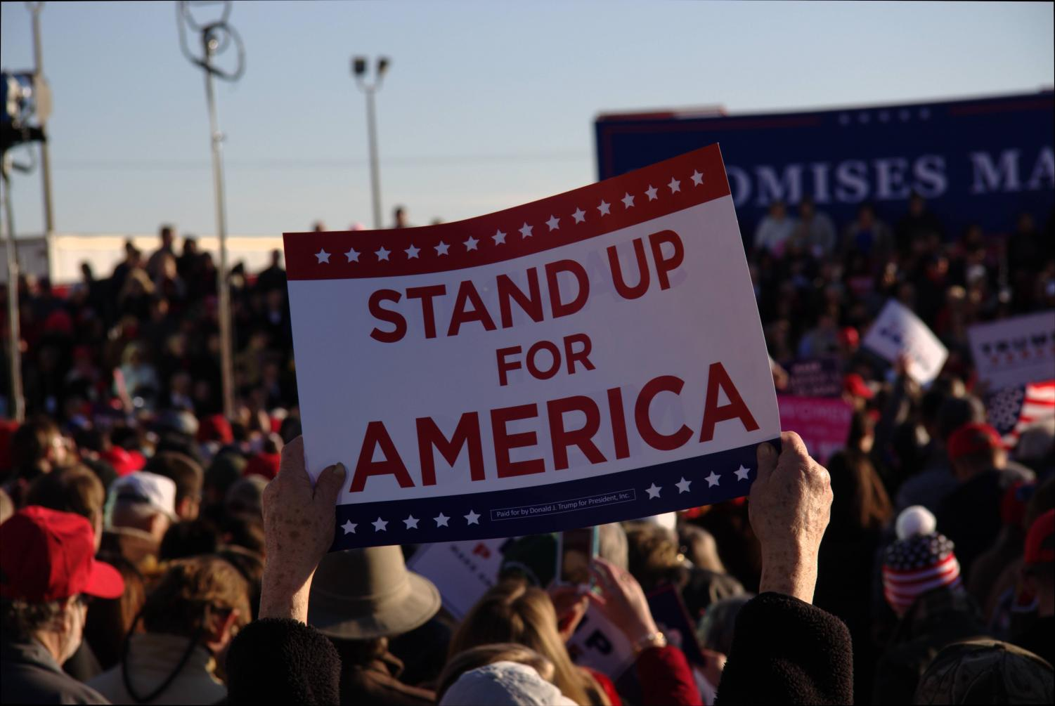 Supporters of President Trump held up signs at a recent rally stating 'Stand up for America.' I argue this is exactly what America needs to do for itself. This begins with educating themselves from the truth of the Press.