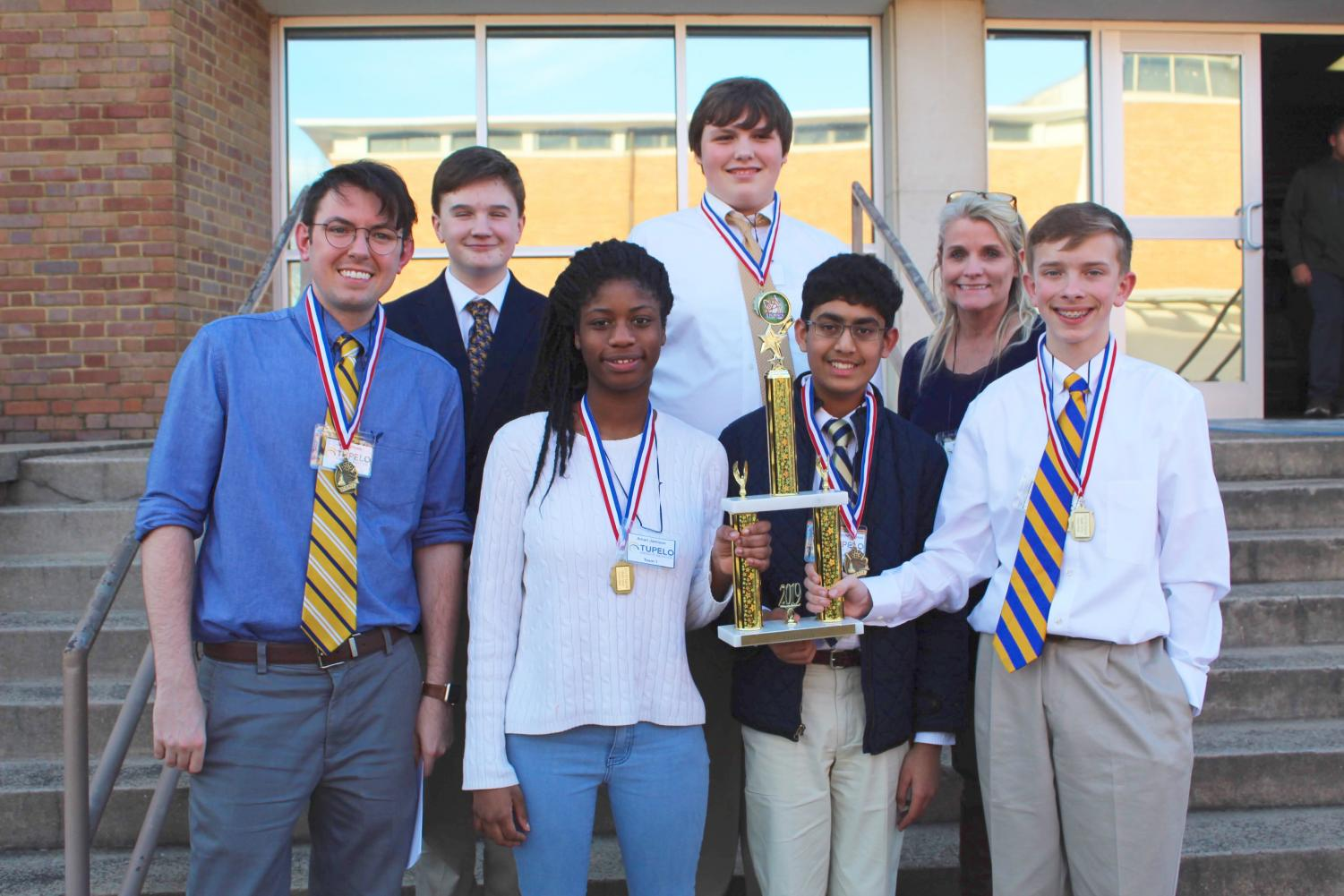 Tupelo Middle School Team 1 takes home the 1st Place title and a bid to nationals.