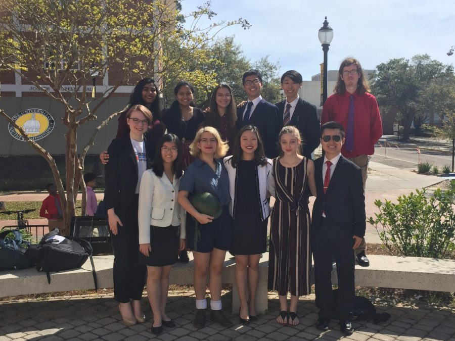 MSMS students showed out at Mississippi State University's Model Security Council Competition.