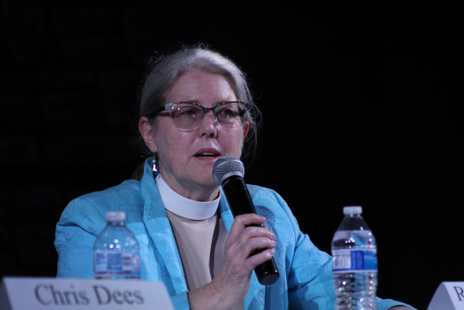Reverend Anne Harris represents the Episcopal Church.