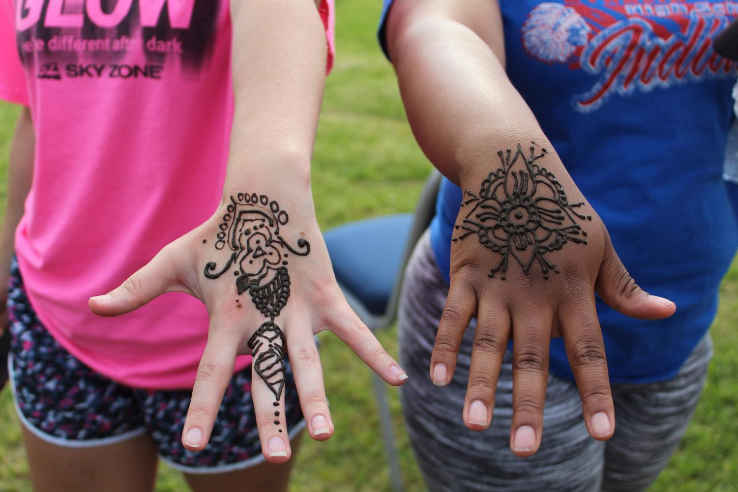 Henna tattoos were a hit at India's booth.