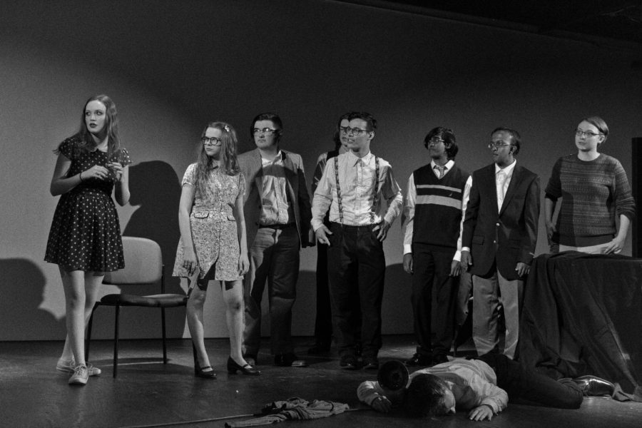The+Cast+of+%22Canceled%22+watches+as+cops+arrive+to+help+end+their+night+of+survival+improv.