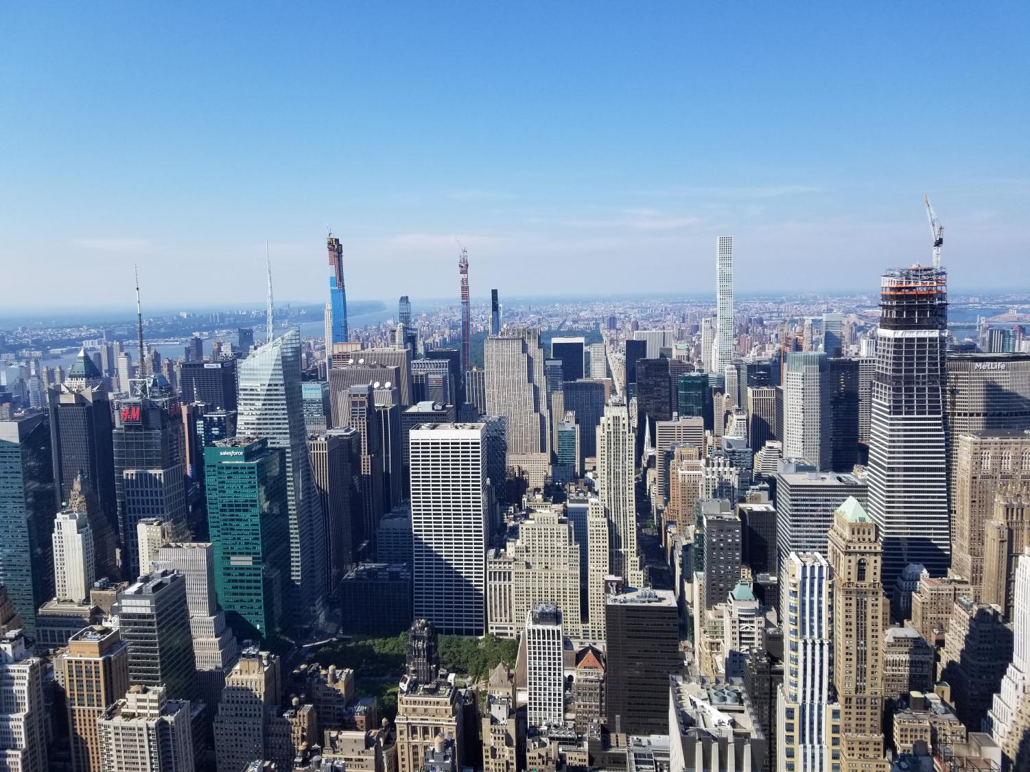 Shanahan captured the New York City skyline from above.