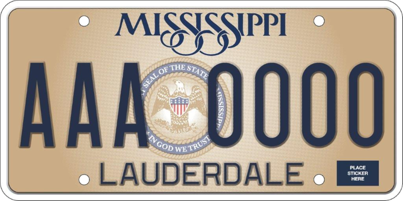 The most recent Mississippi license plate designs incorporates the state seal, which states,