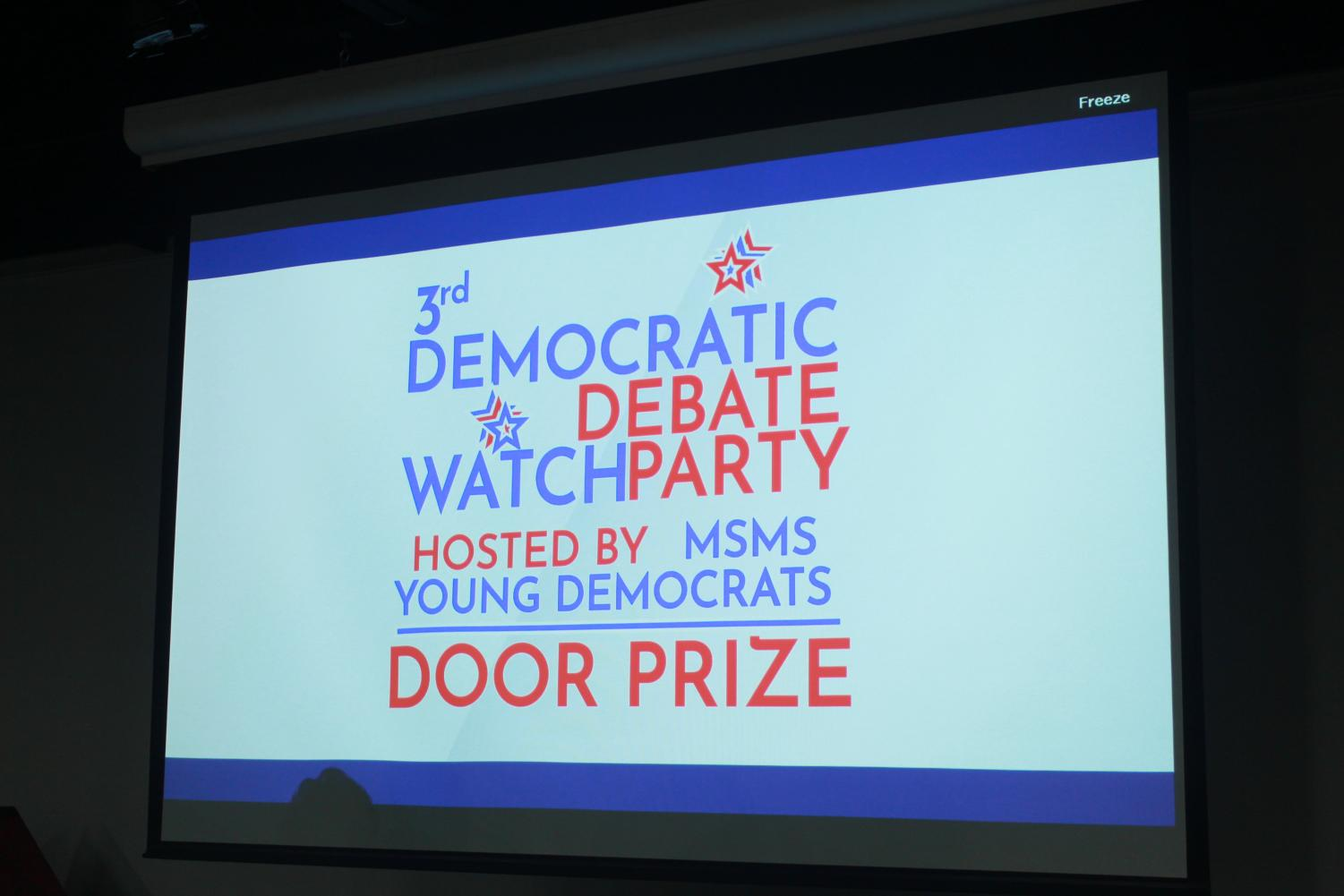 The watch party was open to the school to attend.