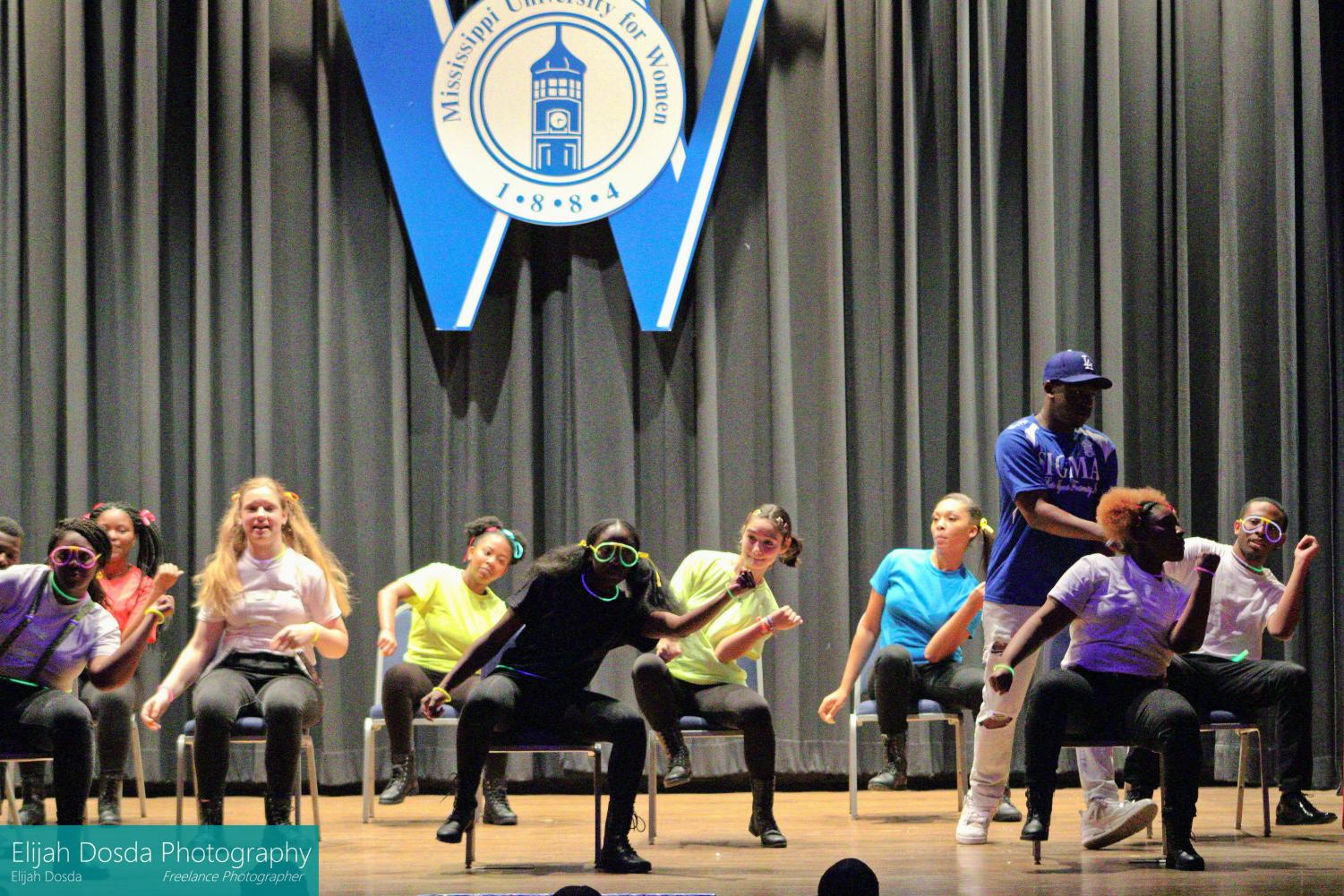 The Blu Knights and Blu Diamondz teamed up to take on this step show.