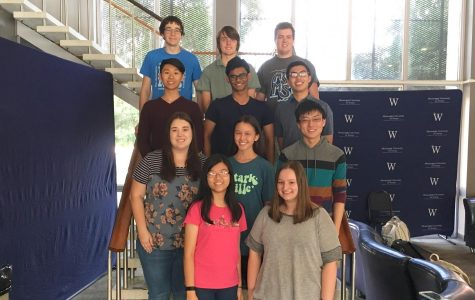 Top row (left to right): Aiden Leise, Guillermo Hoffmann Meyer, Austin Eubank Second row (left to right): Esmond Tsang, Vayd Ramkumar, Dennis Lee Third row (left to right): Ryley Fallon, Linda Arnoldus, Nathan Lee Front row (left to right): Rachel Zheng, Sophia Comino Not pictured: Callie Martin