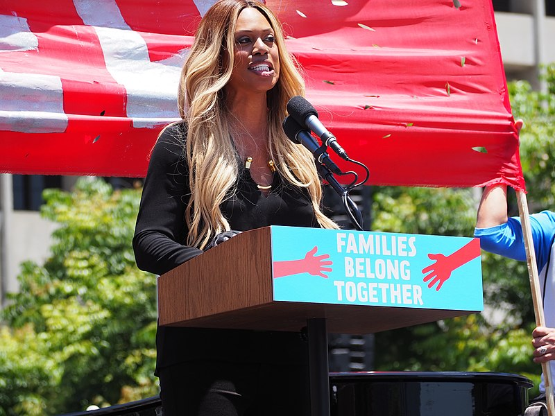 Actress+and+transgender+activist+Laverne+Cox+speaks+at+an+event.