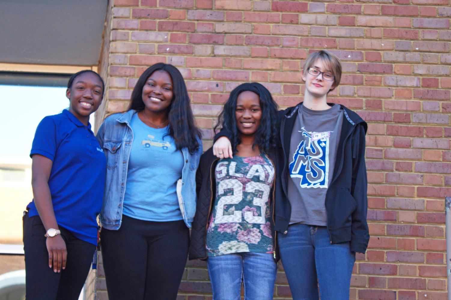 (From left to right) Niyah Troup, Tiwaniya Tyler, Essence Hughes and Steil