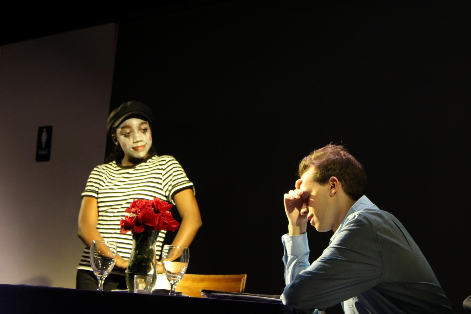 A date doesn't end well when someone comes dressed as a mime...
