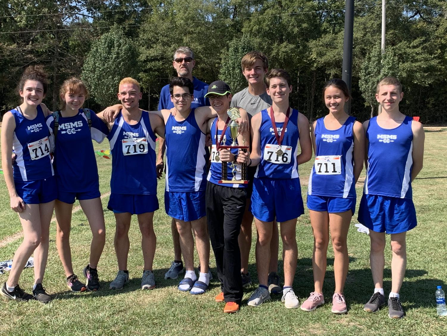 The boys' team placed 1st at the Eagle Claw Invitational.