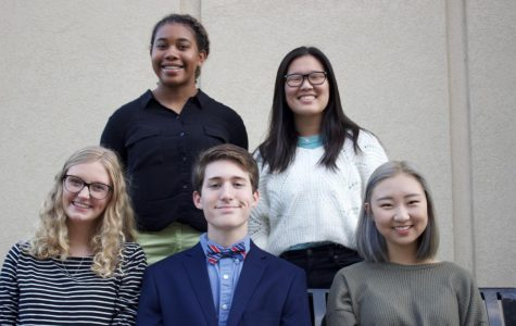 From left to right: (back row) Madison Meeks, Karlene Deng, (front row) Kate Hall, Luke Bowles, Clare Seo