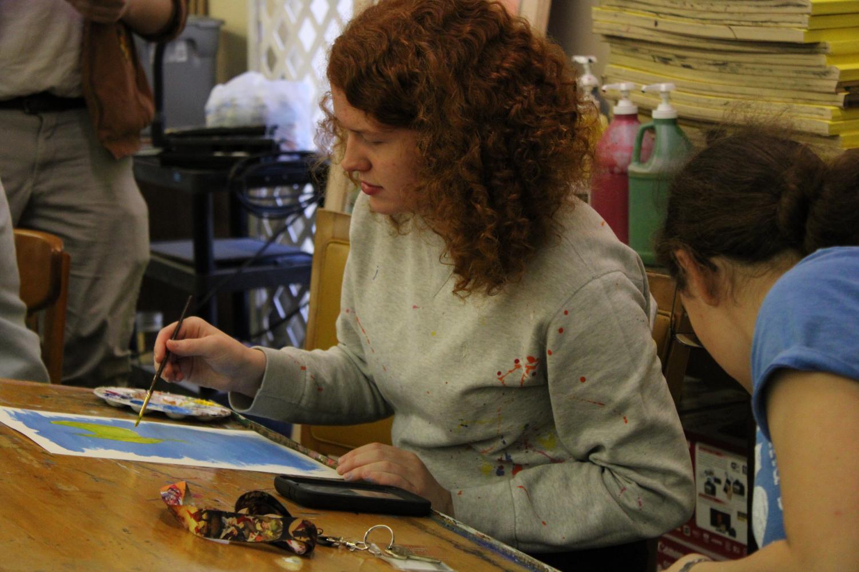 Marlie Sturgis de-stresses by expressing herself through art.