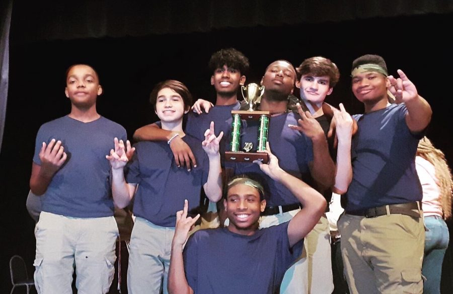 The Blu Knightz took home third place at the recent step show.