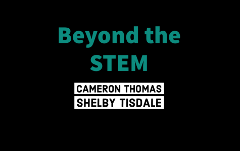 Senior Cameron Thomas interviews Junior Shelby Tisdale in the first episode of Beyond the STEM.