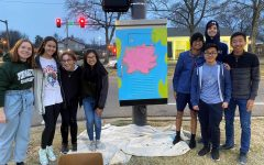 Interact Club heads downtown, paints utility box