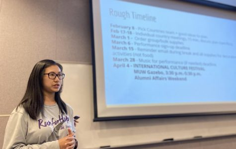 ICF coordinator Gina Nguyen informs everyone about the upcoming dates.