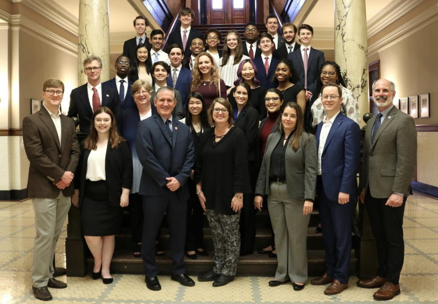 26+MSMS+students+traveled+to+Jackson+to+meet+with+state+legislatures.+