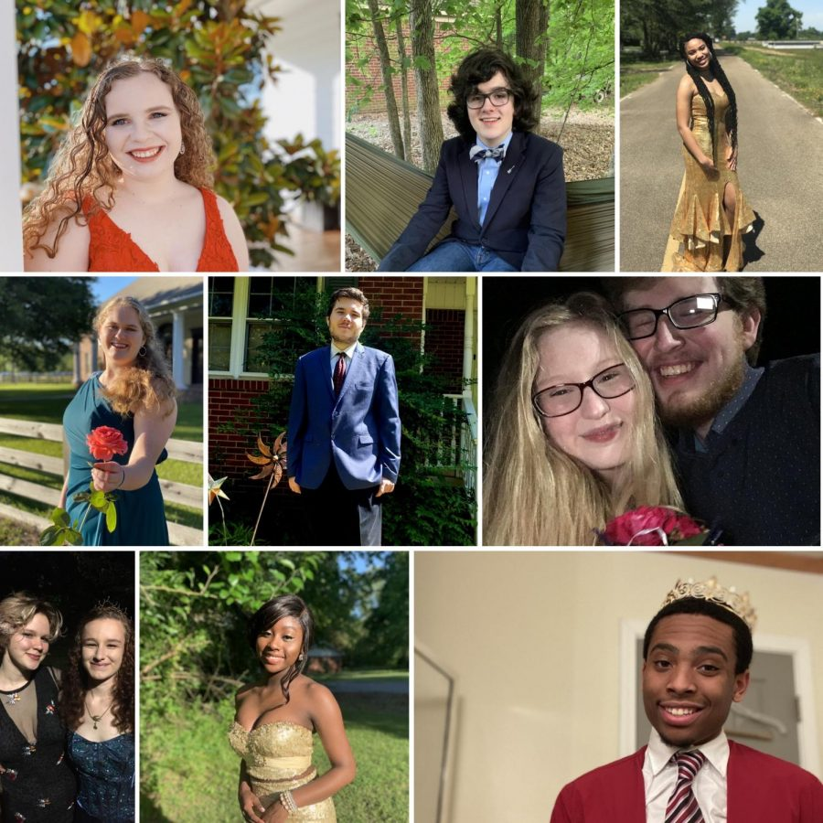 As an alternative to an actual prom dance, the junior class officers hosted a virtual quarantine prom and encouraged students to dress up and take pictures.